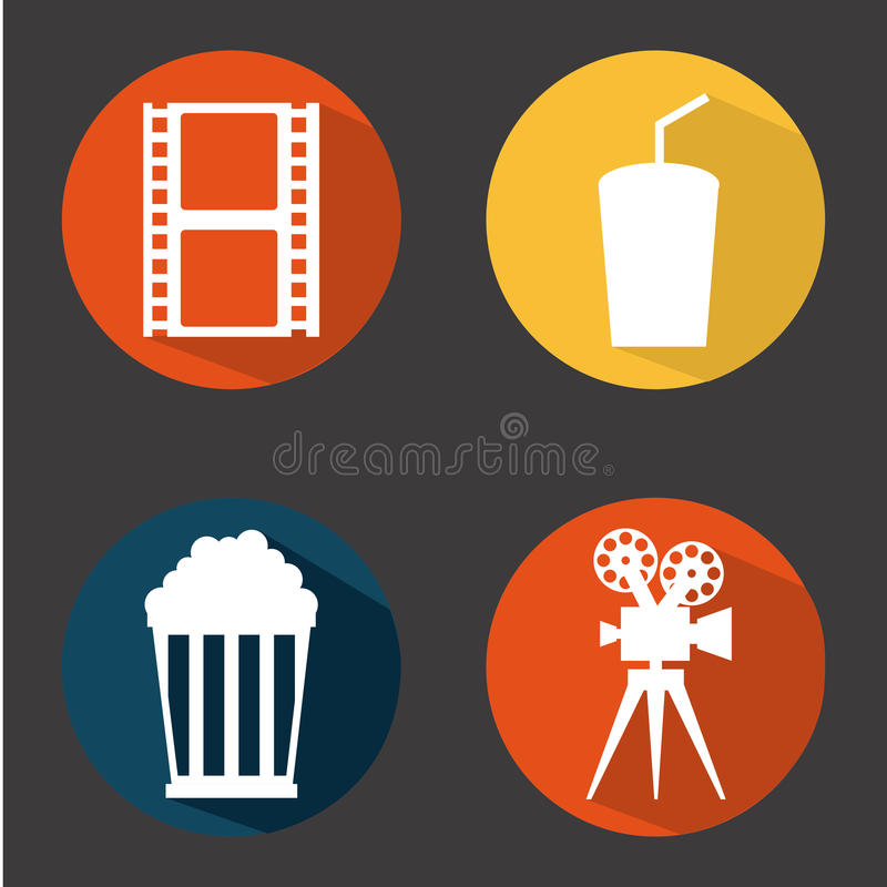 Cinema concept. Design, vector illustration eps10 graphic royalty free illustration