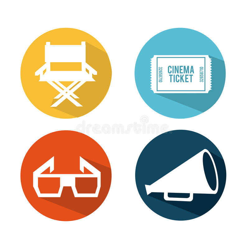 Cinema concept. Design, vector illustration eps10 graphic stock illustration