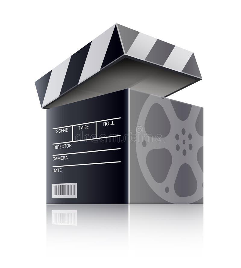 Free Cinema Concept. Movie Black Film Box. Vector Illustration. Royalty Free Stock Photography - 137809657