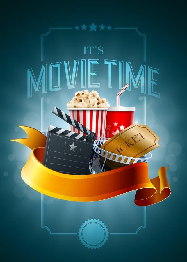 Cinema concept poster vector illustration