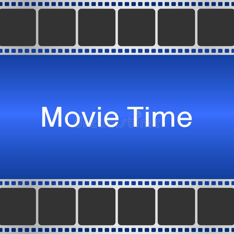 Movie time background with film strip. Cinema concept vector ill. Cinema concept vector illustration. Movie time background with film strip vector illustration