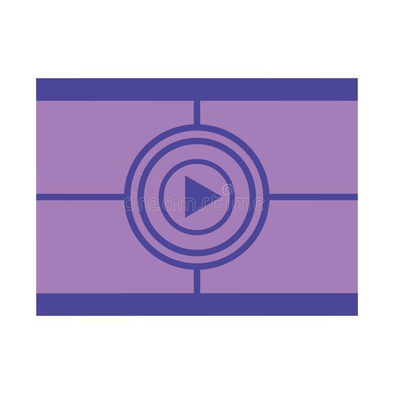 Cinema countdown strip production movie film royalty free illustration