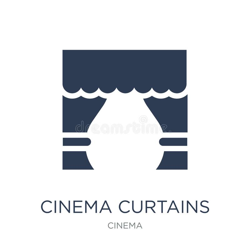 Cinema curtains icon. Trendy flat vector Cinema curtains icon on royalty free illustration