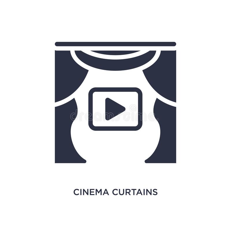 cinema curtains icon on white background. Simple element illustration from cinema concept stock illustration