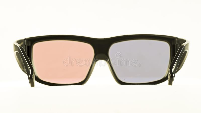 Cinema 3D glasses on a white background royalty free stock images
