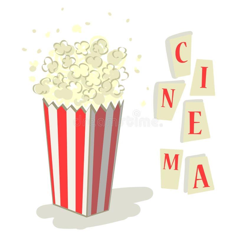 Cinema da pipoca ilustração do vetor
