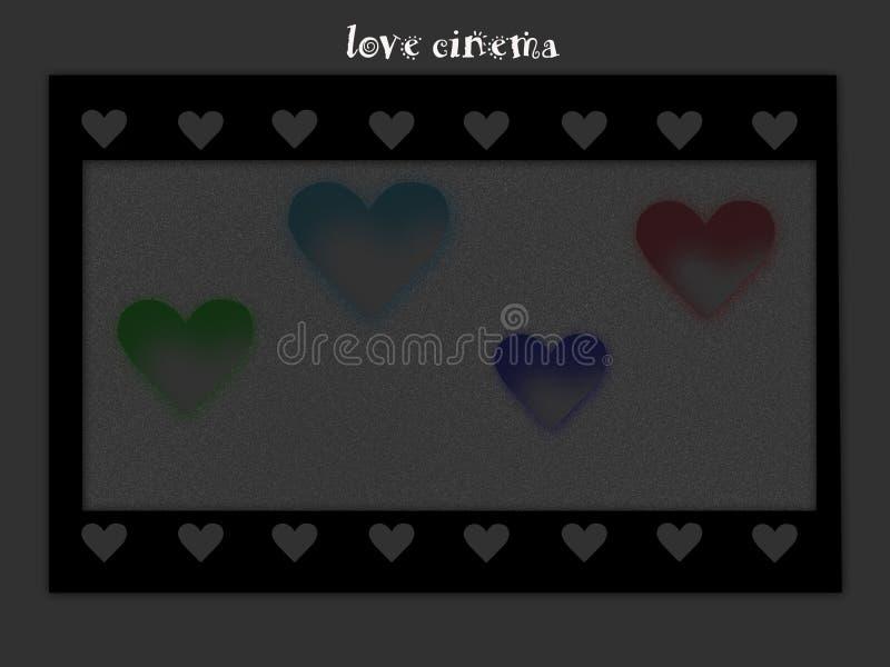 Cinema di amore immagine stock