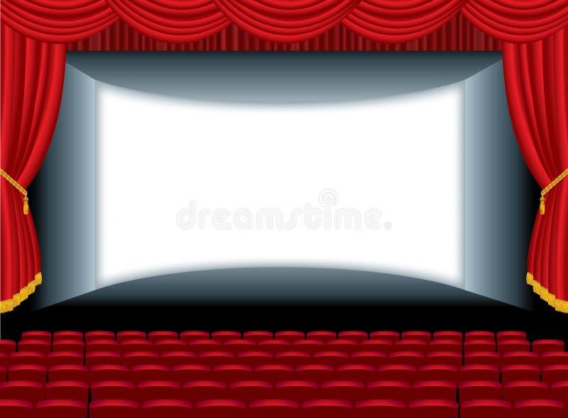 Cinema do auditório da curva ilustração do vetor