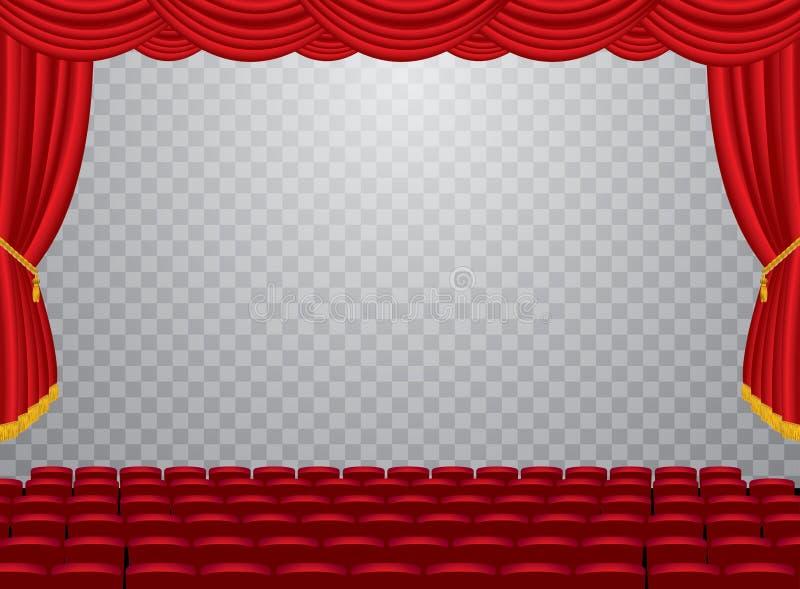 Cinema do auditório do transporte ilustração royalty free