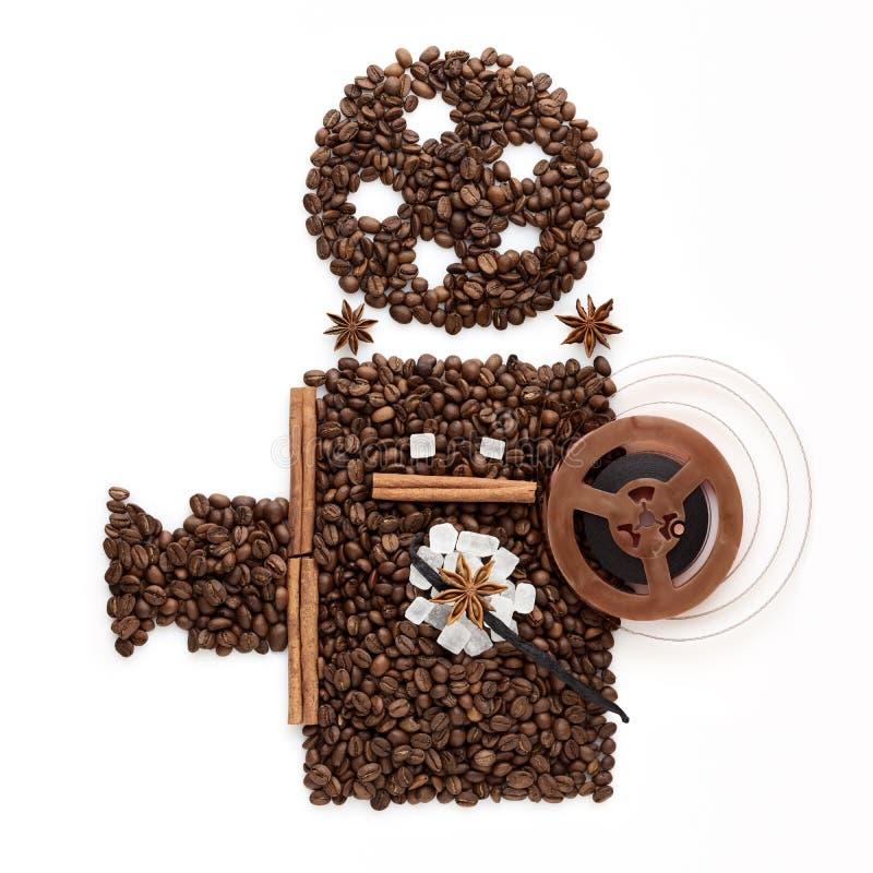 Cinema do café. imagem de stock