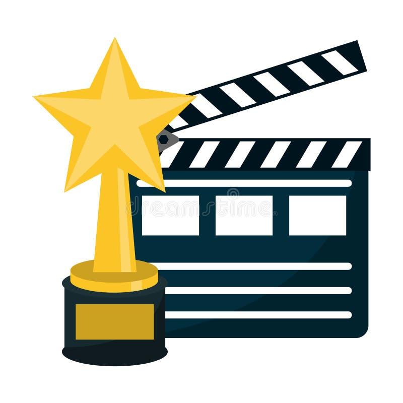 Cinema e entretenimento dos filmes ilustração stock