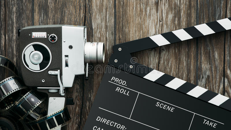 Cinema e produzione di video fotografia stock libera da diritti