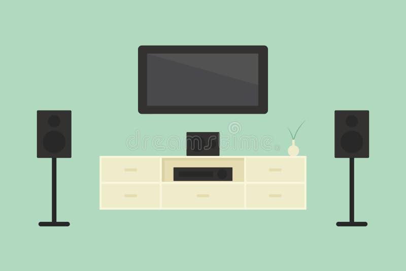 Cinema em casa ilustração stock