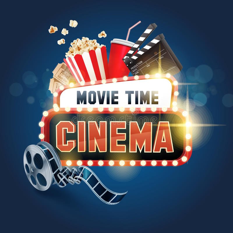Free Cinema Ensign Movie Time Stock Photography - 60575002