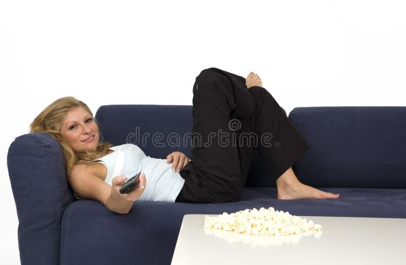 Cinema evening. royalty free stock image