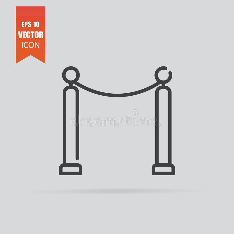 Cinema fence icon in flat style isolated on grey background royalty free stock image