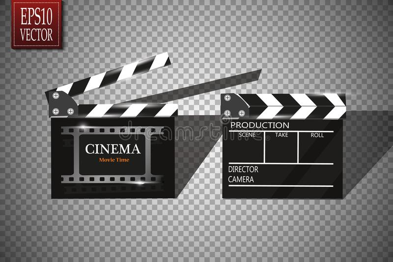 Download Cinema Festival Flyer Or Poster With Movie Reel And Clapper Board Vector Illustration Of