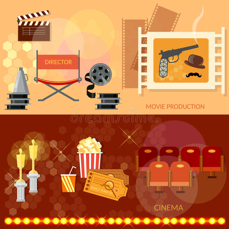 Cinema festival movie theater entrance tickets royalty free illustration
