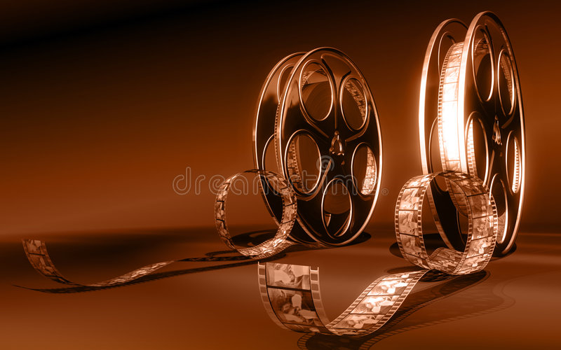 Cinema film stock illustration