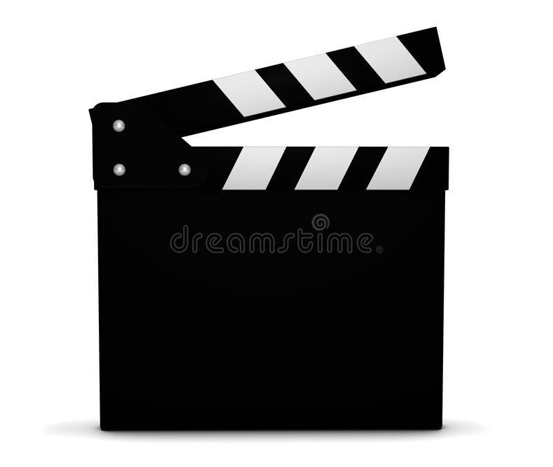 Cinema Film And Movie Blank Clapperboard. Cinema, film, video and movie maker concept with a black and white clapperboard with blank space for your business and vector illustration