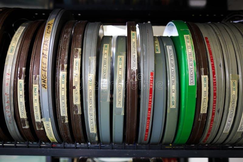 Cinema Film Reels stock photography