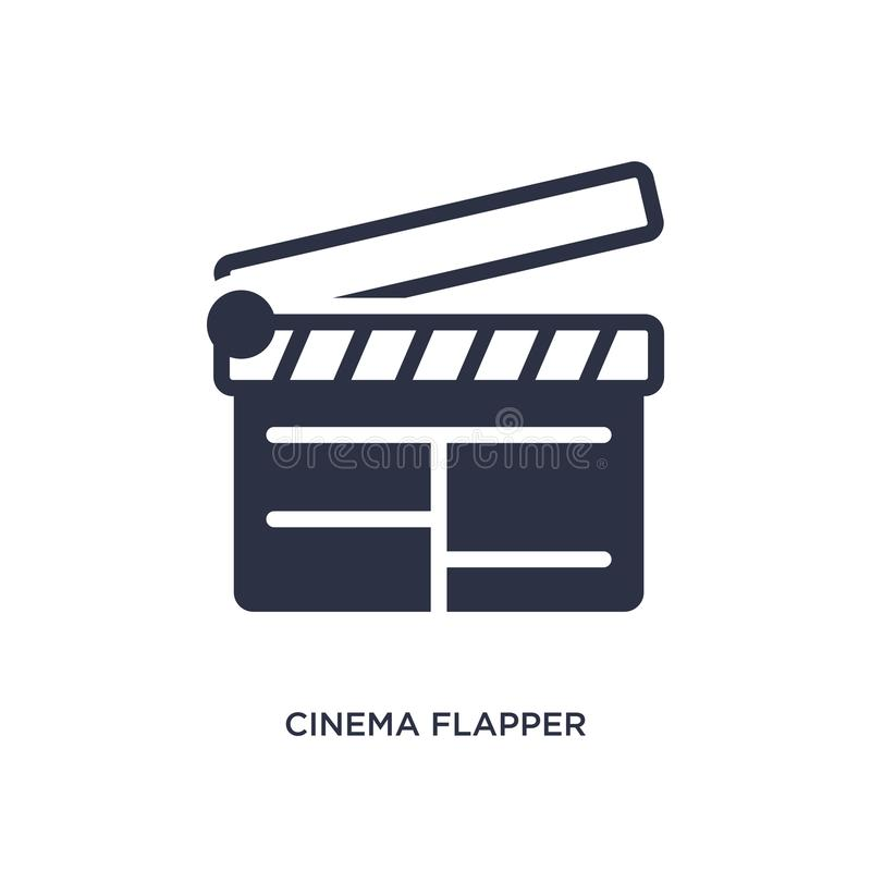 cinema flapper icon on white background. Simple element illustration from cinema concept stock illustration