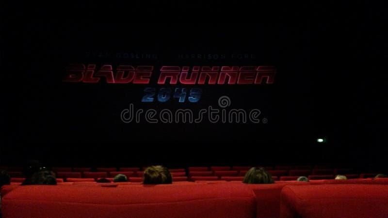 Cinema in francese immagine stock libera da diritti