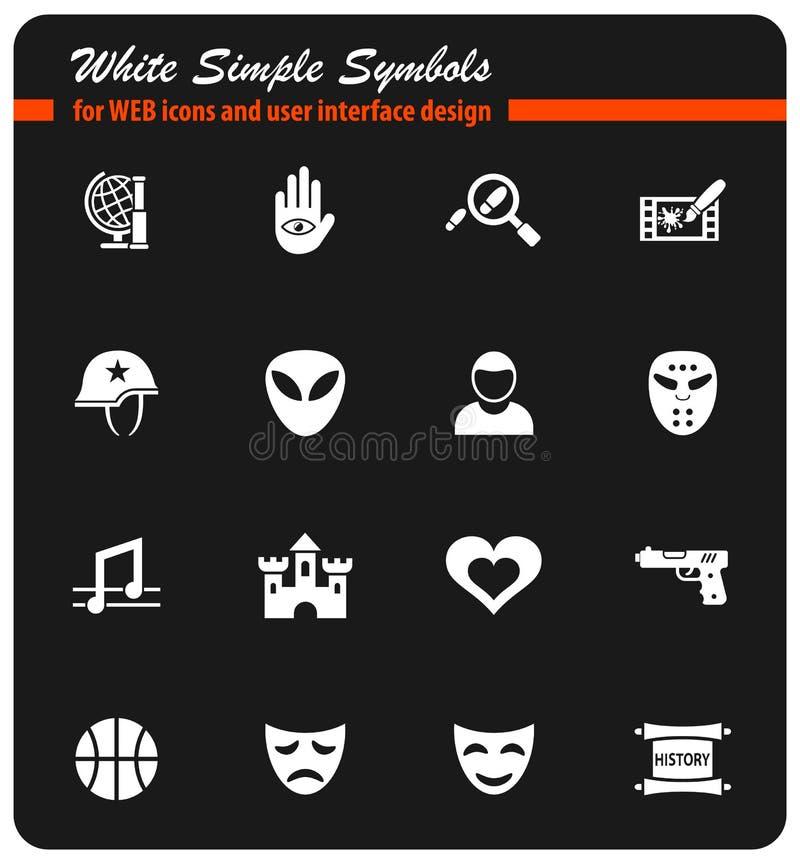 cinema genre icon set vector illustration