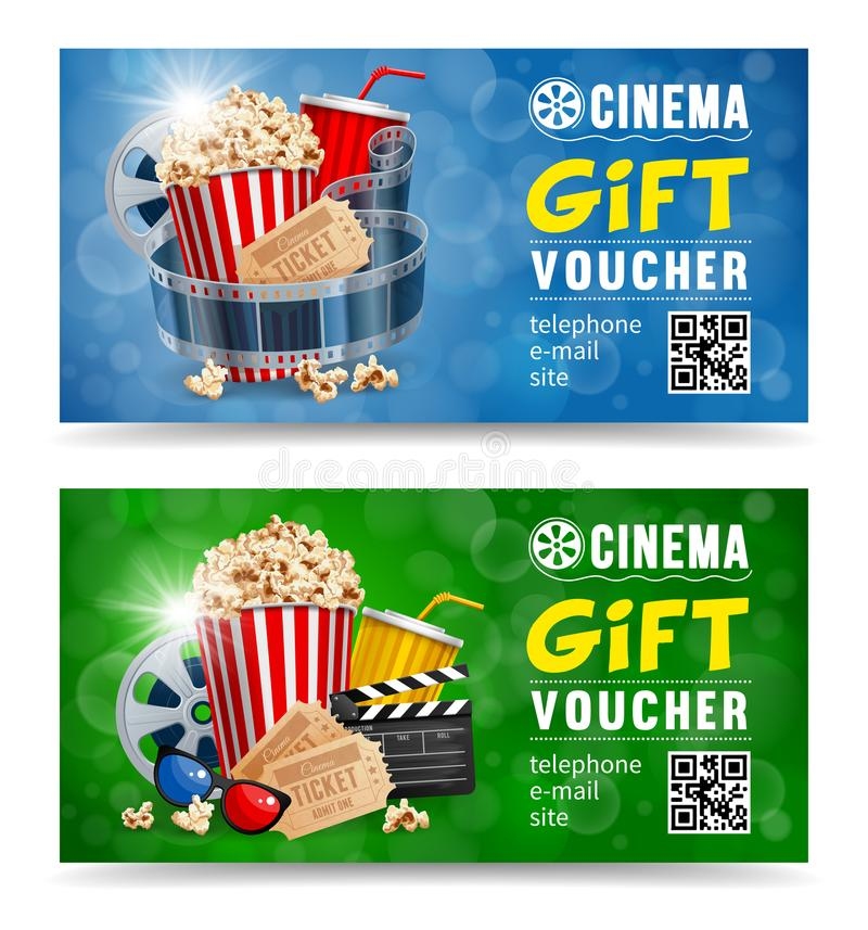 Free Cinema Gift Voucher Royalty Free Stock Photography - 117040657