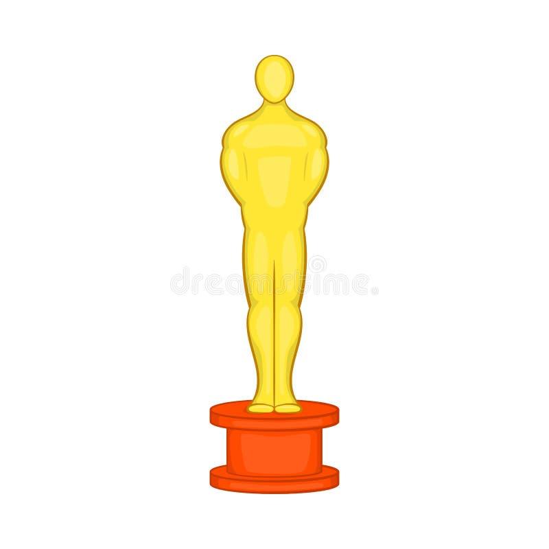 Cinema gold award icon, cartoon style vector illustration