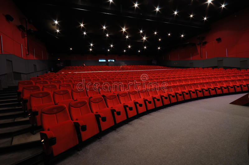 Cinema hall stock photography