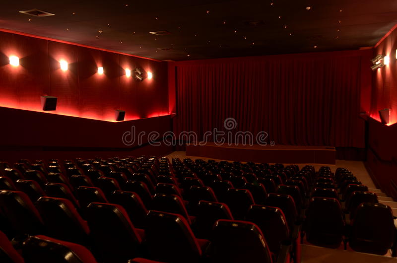 In a cinema hall royalty free stock photography
