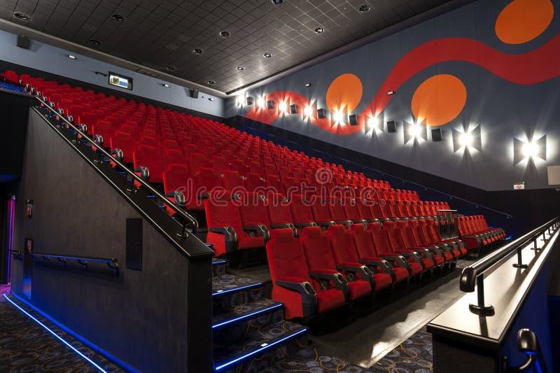 Cinema Hall Bucharest Romania fotografia stock libera da diritti