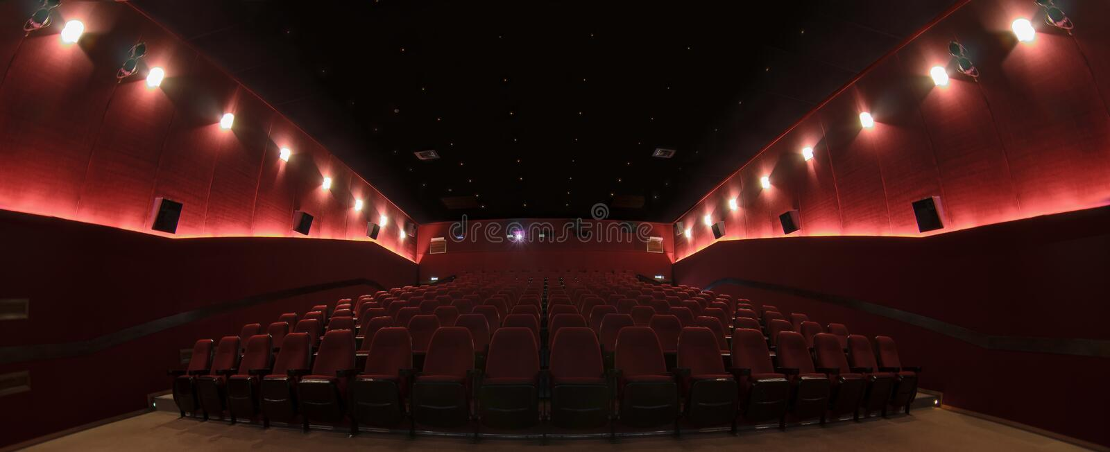 In a cinema hall royalty free stock image