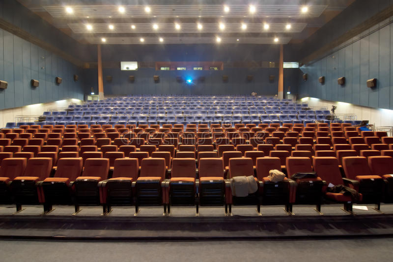 Download Cinema Hall Withrow Of Seats Stock Photography - Image: 16286862