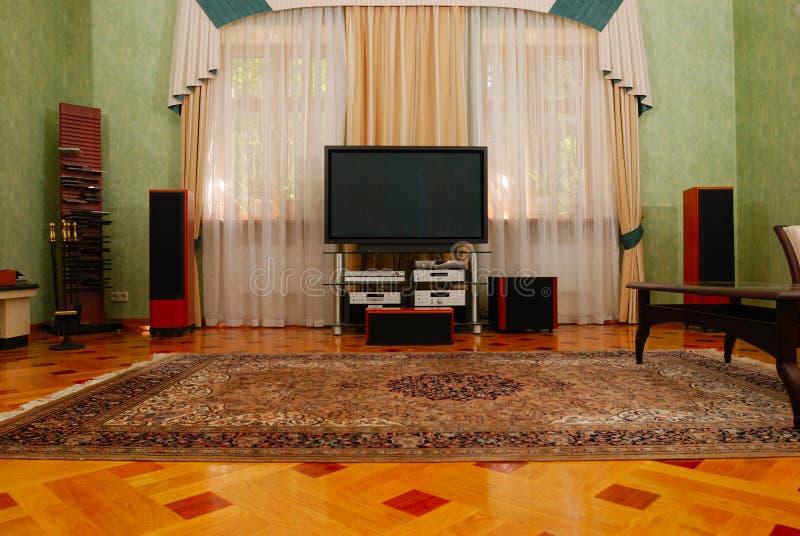Cinema Home luxuoso imagens de stock
