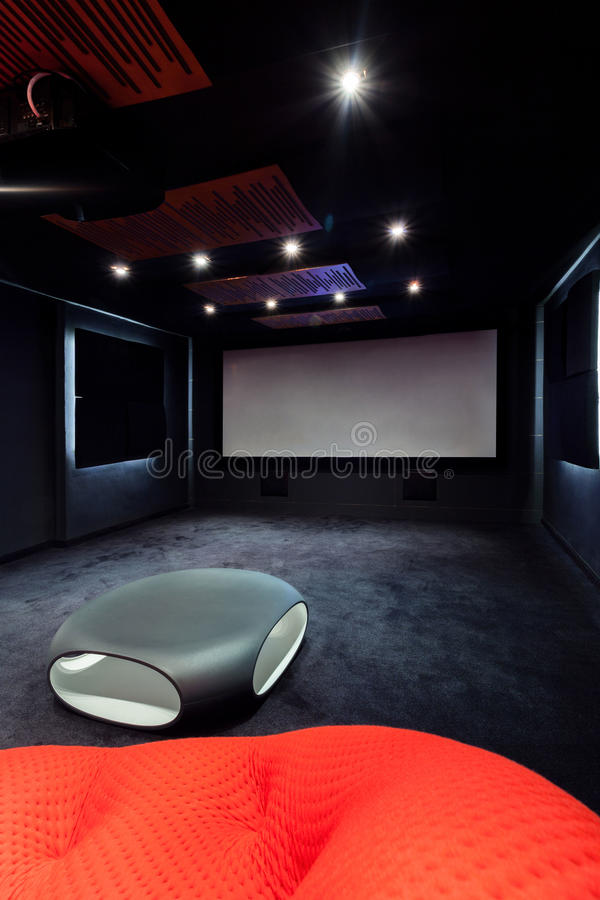 Cinema at home stock photo