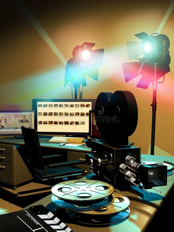 Cinema industry vector illustration