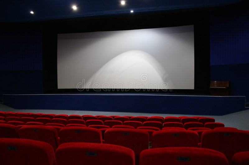 Cinema interior royalty free stock photography