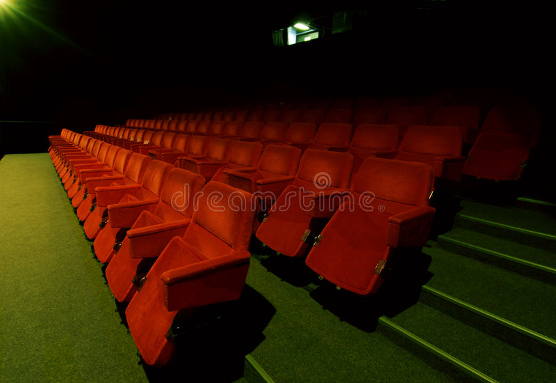 Download Cinema interior stock image. Image of green, film, look - 3767743