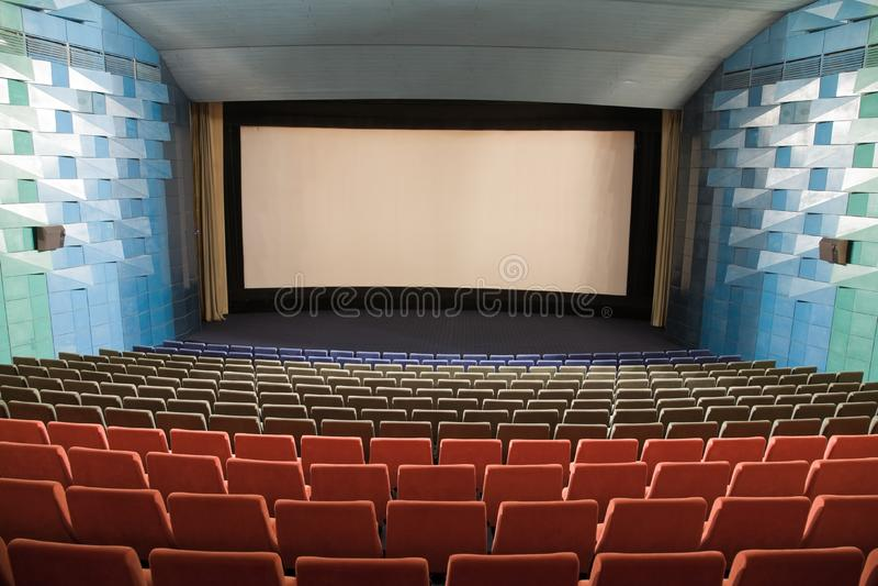 Cinema interior stock image