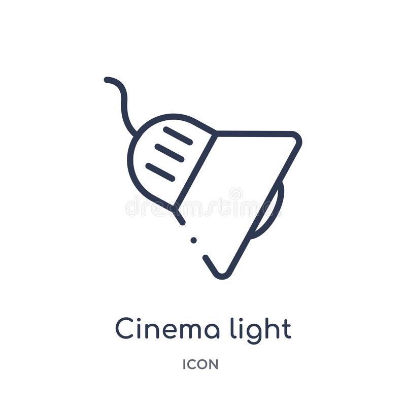 Cinema light with cable icon from technology outline collection. Thin line cinema light with cable icon isolated on white. Background vector illustration