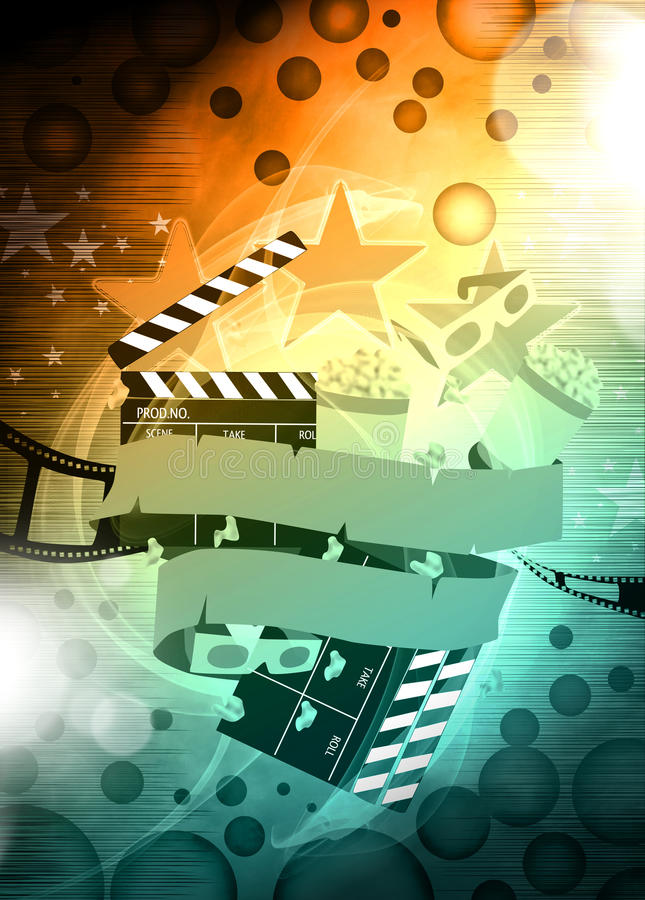 Cinema or movie background royalty free illustration