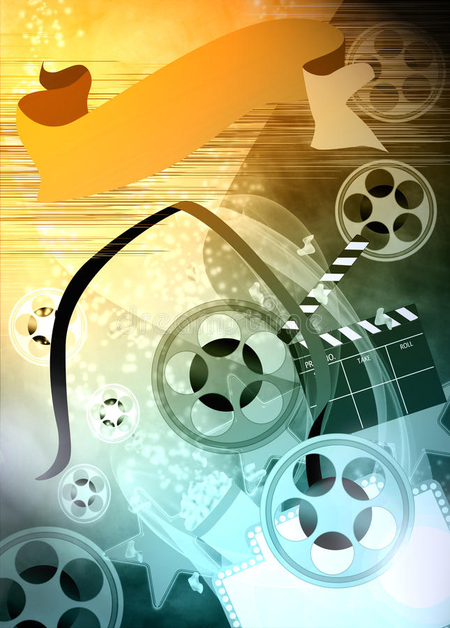 Cinema or movie background stock illustration