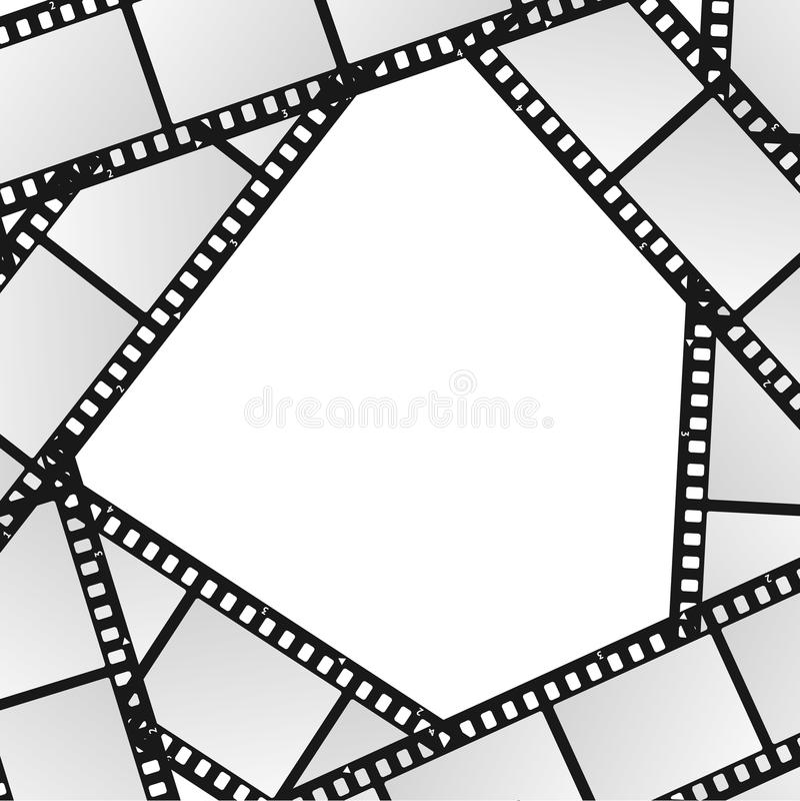 Cinema movie film stripe or reel background vector stock vector cinema movie film stripe or reel background blank white template for ad invitation presentation vector illustration of retro filmstrip stopboris Gallery