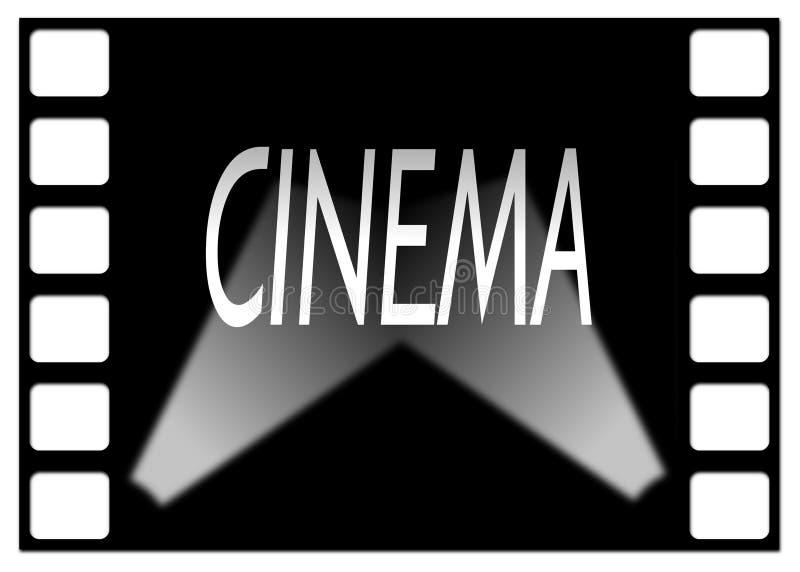 Cinema movie frame with shaft of light. Background royalty free illustration