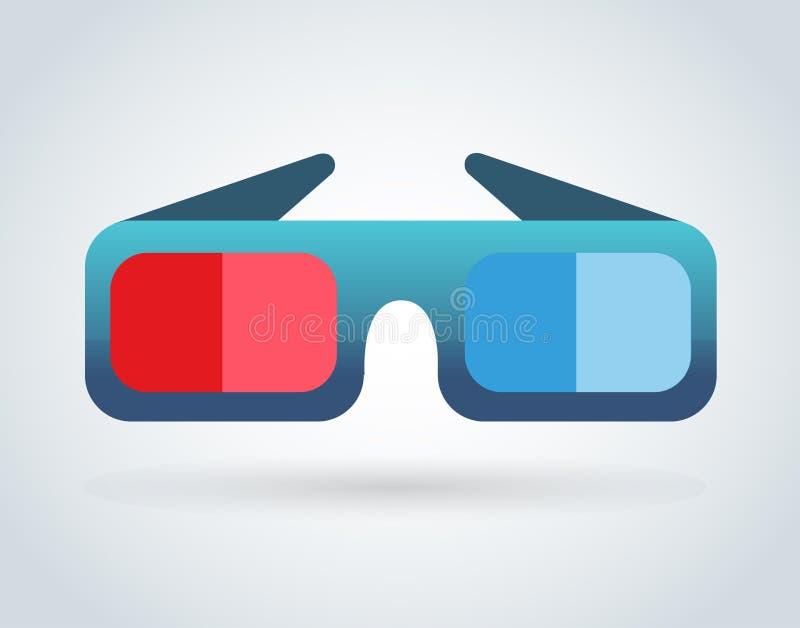 Cinema movie glasses on white background vector illustration