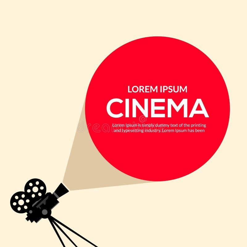 Cinema movie poster design. Vector film camera background retro brochure cinema illustration.  vector illustration