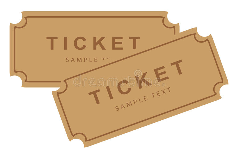 Cinema movie theater tickets royalty free illustration