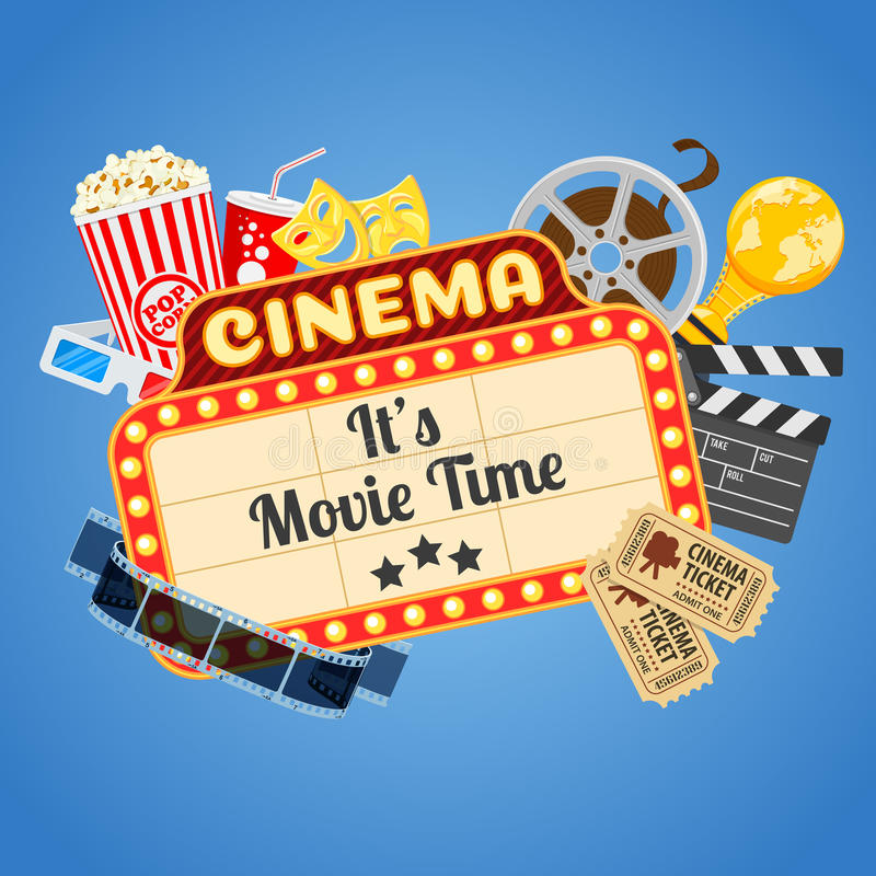 Movie time design elements vector backgrounds 01 - WeLoveSoLo